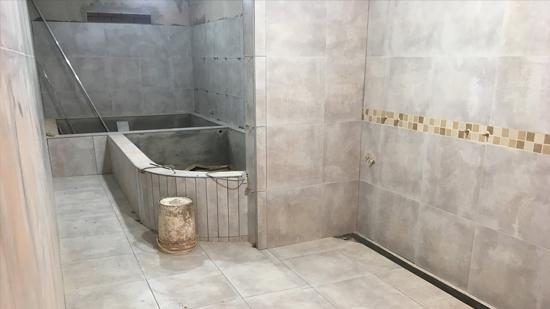 Avanza la construcción de los nuevos baños